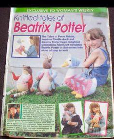 Peter Rabbit, Jemima Puddleduck, Jeremy Fisher. Alan Dart patterns taken out of Woman's weekly magazine