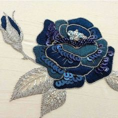 Wonderful Ribbon Embroidery Flowers by Hand Ideas. Enchanting Ribbon Embroidery Flowers by Hand Ideas. Zardozi Embroidery, Tambour Embroidery, Hand Work Embroidery, Couture Embroidery, Embroidery Motifs, Rose Embroidery, Embroidery Jewelry, Hand Embroidery Designs, Sequin Embroidery