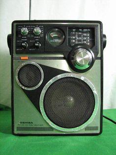 TOSHIBA RP-1660M AM FM CB PSB WEATHER 4 BAND RADIO RECEIVER VINTAGE KOREA #Toshiba