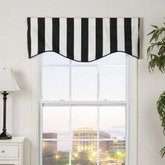 @Overstock - This Midtown valance showcases a classic black and white wide-striped design. This valance showcases an 'M' shape design. http://www.overstock.com/Home-Garden/Midtown-Shaped-Valance/5515238/product.html?CID=214117 $32.39