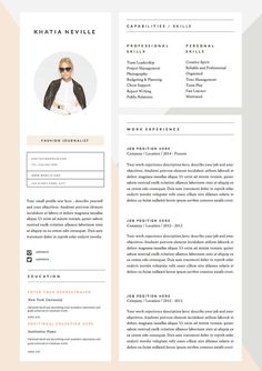 Modern Resume Template  Cv Template By Hedgehogboulevard On Etsy