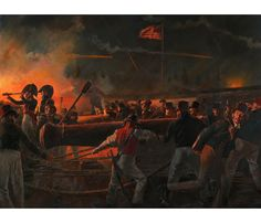 """Fort McHenry painting that was commissioned by the graduating class of the US Army War College. Painted by Don Troiani.  """"Our Flag Was Still There"""" The Defense of Ft.  McHenry,  Sept. 13-14, 1814"""