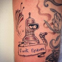 Futurama's Bender inspired tattoo.