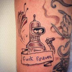 Futurama's Bender inspired tattoo.
