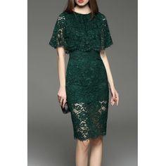Sheath Lace Pencil Dress