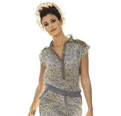 Платье с застежкой поло
