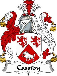 cassidy family crest | IrishGathering - The Cassidy Clan Coat of Arms (Family Crest) and ...This is close to what our is, I think. My Brother and Cousin altered it a touch to create a modern tattoo of the American Spelling of Cassiday.