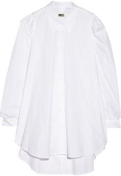 Free Shipping Many Kinds Of Mm6 By Maison Margiela Woman Draped Cotton-poplin Shirt Dress Sky Blue Size 46 Maison Martin Margiela Cheap Low Shipping Fee S6m2InKr