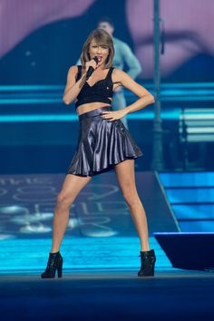 Taylor Swift performs at a concert for adoring fans at the Greensboro Coliseum on October 21, 2015 in Greensboro, North Carolina.