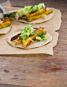 Sweet Potato Tacos  click here for recipe