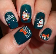 Festive Fun nail water decals from Sparkly Nails
