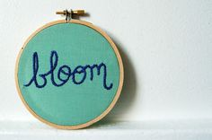 blooming pretty hand embroidery