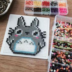 Totoro perler beads by  yuhyeming