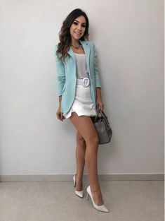 Blazer-Serena favorites outfits в 2019 г. looks elegantes, l Casual Dresses, Casual Outfits, Cute Outfits, Hijab Casual, Hijab Fashion, Fashion Outfits, Womens Fashion, Casual Chic, Smart Casual