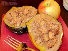 Acorn Squash Apple Pie: All the taste of apple pie without the guilt!