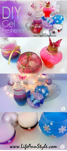 This would make a great Christmas idea! Room Freshener, Air Freshener, Craft Gifts, Diy Gifts, Pots, I Love Diy, Gel Candles, Homemade Cleaning Products, Perfume