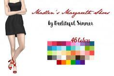 Deelitefulsimmer: Madlen Margareth Shoes Recolor • Sims 4 Downloads