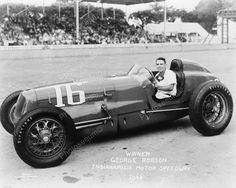 George Robson Indianapolis Motor Speedway 1946Vintage 8x10 Reprint Of Old Photo
