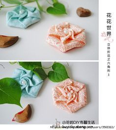so pretty Origami Flowers, Diy Flowers, Fabric Flowers, Origami Rose, Origami Quilt, Fabric Origami, Origami Ornaments, Rose Applique, Small Sewing Projects