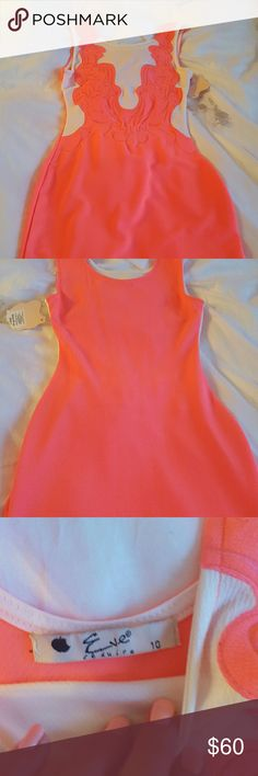 Hot pink fitted party dress BNWT us size 6 UK10 Sexy fitted dress from European boutique Dresses Mini