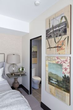 Denver Designer Show House 2015 Neutral Side Bedroom By Chalet Colorado Art Consulting