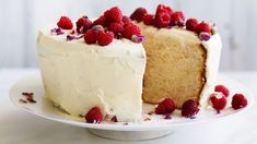 Lemon and rose chiffon cake with white chocolate cream icing