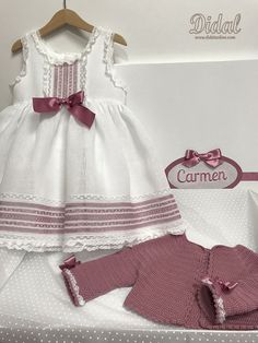 CC 160 Baby Dress, Girly, Handmade, Outfits, Dresses, Toddler Pajamas, Two Pieces, Toddler Fashion, Infant Dresses