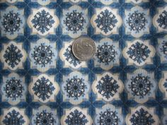 Vintage 3 yards Blue Waverly Print Curtain Fabric by tessimal, $20.00