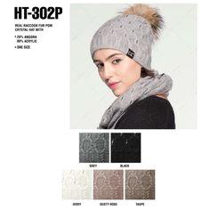a44d4c79a24 Wholesale C.C fur pom beanie style HAT-302P. Cc Beanie