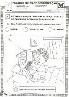 Projeto Meios De Comunicacao Com Imagens Atividades Meios De