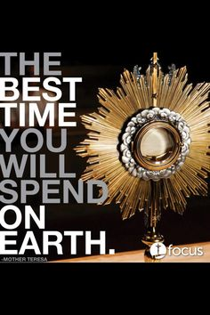 (Symbols) The Tabernacle is a very important symbol to this sacrament. It holds the hosts that are taken to the sick and dying. While a light is always burning when present, quiet prayer is a tradition within the Church.