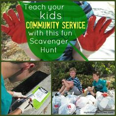 How to turn community cleanup into a fun scavenger hunt