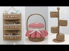 Rope Crafts, Recycled Crafts, Space Saving Storage, Diy Videos, Minis, Straw Bag, Recycling, Projects To Try, Craft Ideas