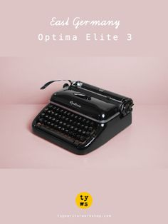 Made in East Germany, here's the gorgeous Optima Elite 3 typewriter.