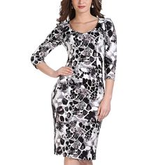 2016 Real Plus Size Autumn Bodycon Floral Print Dresses Women Chinese Style Long-sleeved Dress Knee Length Elegant Party 1228