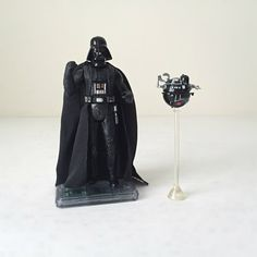 1990s Star Wars Figures - Darth Vader and Death Star Interrogation Droid.