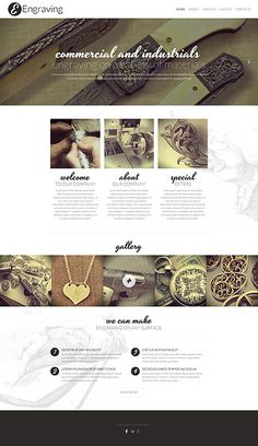 Template 52189 - Engraving Commercial  Responsive Website Template