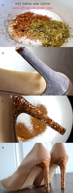 2 Fashion Style: DIY GLAM SHOES!!! Sapatos Glamurosos feitos por você!