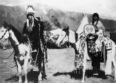 """The Flathead Indian was known as the """"Pretty People"""" because of their buckskin clothing that was beautifully beaded. They displayed some of the finest craftsmanship in dress and headdress."""