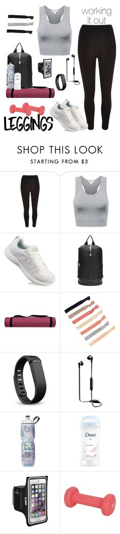 """working it out"" by seutepanee ❤ liked on Polyvore featuring River Island, Skechers, adidas, Fitbit, Gibson, Sunny Health & Fitness, Leggings and WardrobeStaples"