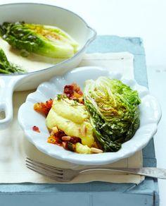 Rezept Ratatouille-Polenta mit geschmortem Salat