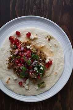 Chez Us | Slow Cooker Harissa Lamb Tacos with Pomegranate Salsa | http://chezus.com