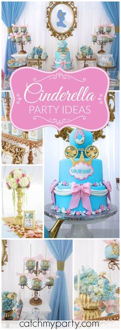 What a lovely Cinderella princess first birthday party! See more party ideas at… Princess First Birthday, Disney Princess Party, 1st Birthday Girls, 3rd Birthday Parties, Birthday Fun, Birthday Ideas, Cinderella Theme, Cinderella Birthday, Cinderella Princess