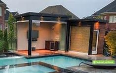 pool cabana with storage and outdoor shower - Yahoo Image Search Results