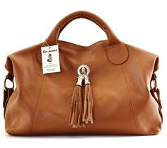 Sac Destock Sac A Main Cuir Tgrainet Ref Parme Nouvelle Collection Promotion Cognac