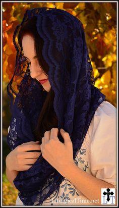 Infinity Veil Chapel Veil Mantilla  EV1I by LiturgicalTime on Etsy