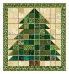 Christmas Tree Rag Quilt! Never thought of using the blocks/triangle to shape the pictures! I have a lot to learn!