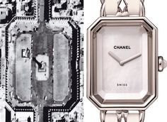 Aerial view of the Place Vendôme inspiring the design of the  PREMIERE watch  Chanel looked to her Parisian culture, art and history to inspire her collections and designs.