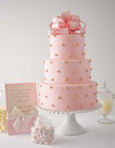 Pink cake ... sweet for baby girl's christening