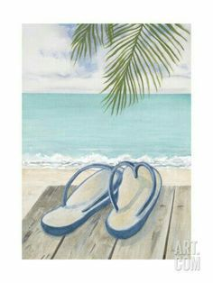Beach Drawing, Painting & Drawing, Art Plage, Summer Painting, Coastal Art, Beach Scenes, Easy Paintings, Beach Art, Painting Inspiration